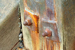 Rusty groyne post Stock Images