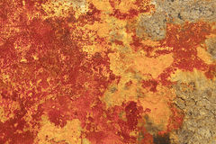 Rusty grunge background. In orange, brown and yellow colors stock photo