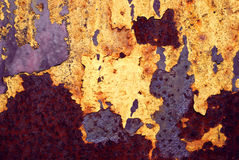 The rusty grunge metal background Royalty Free Stock Photography