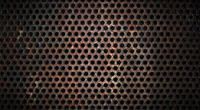 Rusty grunge metal grid background Royalty Free Stock Photography