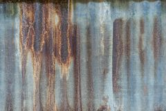 Rusty and grunge metal sheet roof background, very old look, vin stock photo