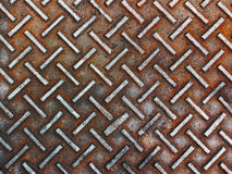 Rusty and grunge steel plate Stock Image