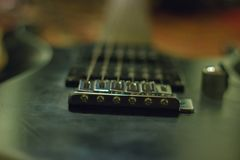 rusty Guitar with single coil pickups royalty free stock photography