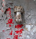 Old albanian door royalty free stock photography