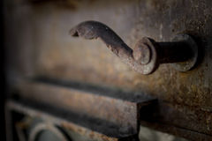 Rusty handle Stock Image
