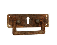 Rusty handle from an old chest Stock Image