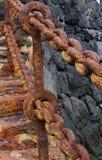Rusty Handrail Stock Photo