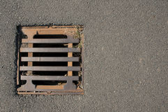 Rusty hatch. Rusty drain hatch on the road royalty free stock photos