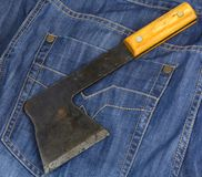 Rusty hatchet Stock Images