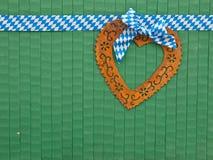 Rusty heart on green Royalty Free Stock Photo