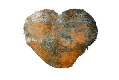 Rusty heart logo background Royalty Free Stock Photo