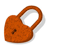 Rusty heart padlock Royalty Free Stock Image