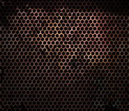 Rusty hexagonal metal grille Stock Photo