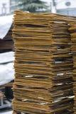 Rusty High Tensile Deformed Steel Bar Stock Photography