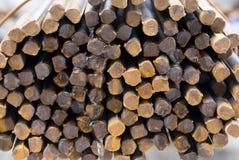 Rusty High Tensile Deformed Steel Bar Royalty Free Stock Photo