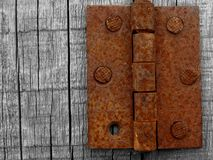 Rusty hinge Stock Photo