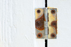 Rusty Hinge Royalty Free Stock Images