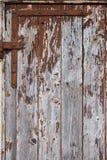 Rusty hinge wooden door Royalty Free Stock Images