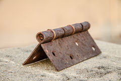 The rusty hinges. Outdoor drying For a long time Royalty Free Stock Images