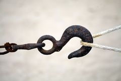 Rusty hook Royalty Free Stock Image