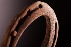 Rusty Horse Shoe Fotografie Stock