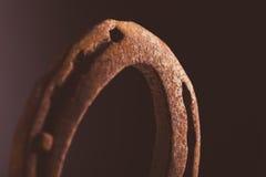 Rusty Horse Shoe Fotografie Stock Libere da Diritti
