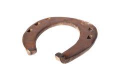 Rusty horseshoe over white Royalty Free Stock Photo