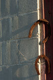 Rusty Horseshoes on Rusted Nails Stock Image