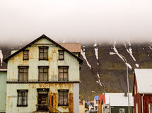 Rusty House Isafjordur Iceland Photo libre de droits
