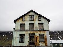 Rusty House Isafjordur Iceland Imagem de Stock
