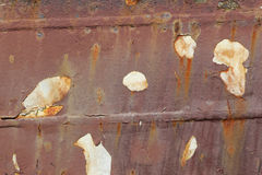 Rusty hull of a ship Royalty Free Stock Photos