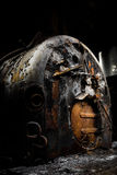Rusty industrial coal-fired boiler Royalty Free Stock Photography