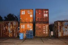 Rusty Industrial Containers immagine stock libera da diritti