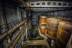 Rusty industrial containers Royalty Free Stock Images