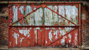 Rusty Industrial Door Fotografia Stock Libera da Diritti