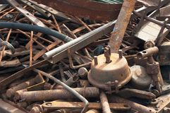 Rusty industrial garbage Royalty Free Stock Image