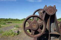 Rusty Industrial Gears Fotos de archivo libres de regalías