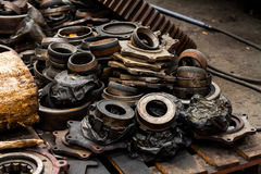 Rusty industrial machine parts Royalty Free Stock Photo