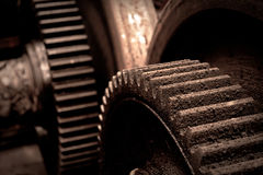 Rusty industrial machine parts Royalty Free Stock Images