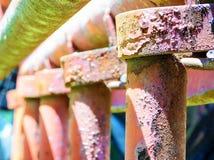 Rusty Industrial Perspective stock afbeeldingen