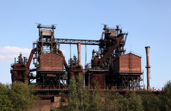 Rusty industrial ruin Stock Photography