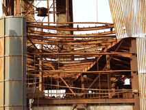 Rusty industrial ruins. Rusty industrial ruins in Tolhuin, Argentina Royalty Free Stock Image