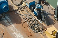 Rusty Industrial Ship Arkivbild