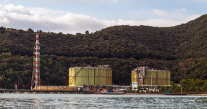 Rusty industry silos Royalty Free Stock Image