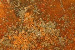 Rusty iron. Grunge rusty brown metal surface  or iron background rough structure or texture Stock Photos