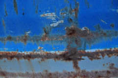 Rusty Iron - abstract corroded colorful wallpaper grunge background iron rusty artistic wall peeling paint Royalty Free Stock Photo