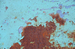 Rusty Iron - abstract corroded colorful wallpaper grunge background iron rusty artistic wall peeling paint Royalty Free Stock Image