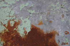 Rusty Iron - abstract corroded colorful wallpaper grunge background iron rusty artistic wall peeling paint Stock Image
