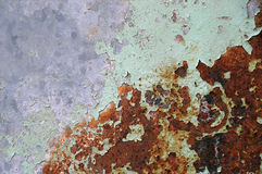 Rusty Iron - abstract corroded colorful wallpaper grunge background iron rusty artistic wall peeling paint Royalty Free Stock Images