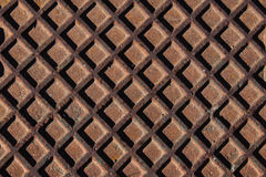 Rusty iron. Background of an old rusty iron cover square Royalty Free Stock Photos
